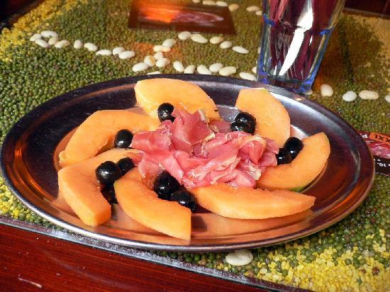 parma ham with melon - Picture of Giallo Rossa, Prague - TripAdvisor