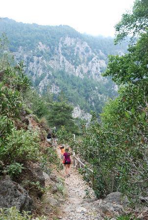 Sougia, Greece: Heading down