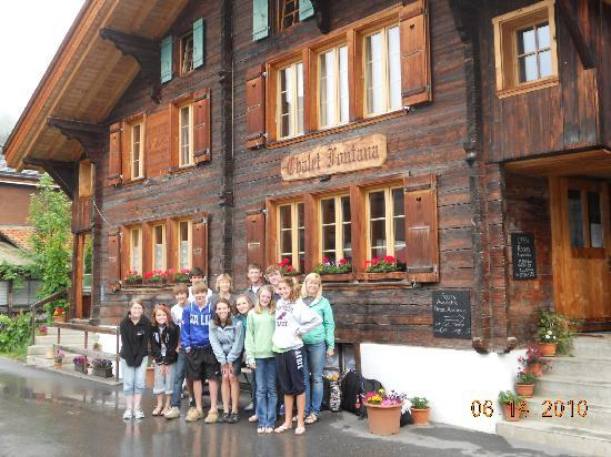 Chalet Fontana: The Group bidding farewell