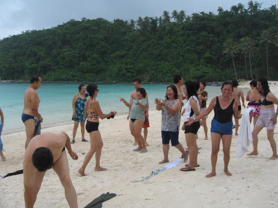 activities at private beach of fairways & bluewater
