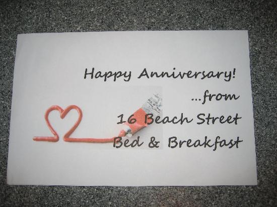 16 Beach Street Bed and Breakfast: Special Treat