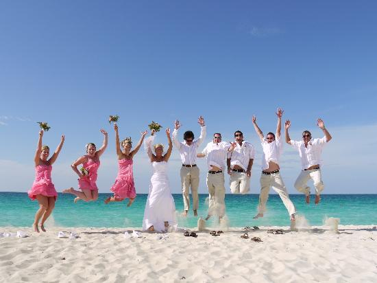 Melia Cayo Santa Maria: Wedding party