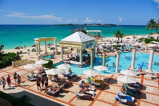 Main Pool From Above Picture Of Sandals Royal Bahamian Spa Resort Amp Offshore Island Nassau