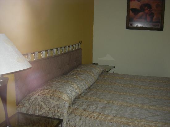 Hotel Posada de Angel: esta es la habitacion con refrigerador y un muy buen tv tiene todo !!!