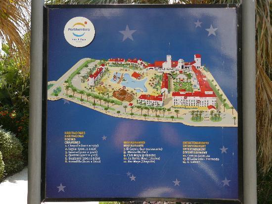 Hotel Map Picture of PortAventura Hotel El Paso Salou TripAdvisor
