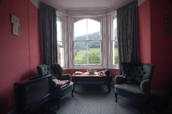 Buckley Arms Hotel: windows of our room overlooking the valley