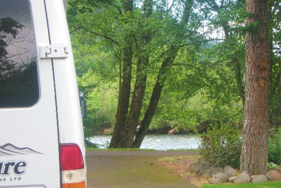 Casey's Riverside RV Park: My RV watching the creek