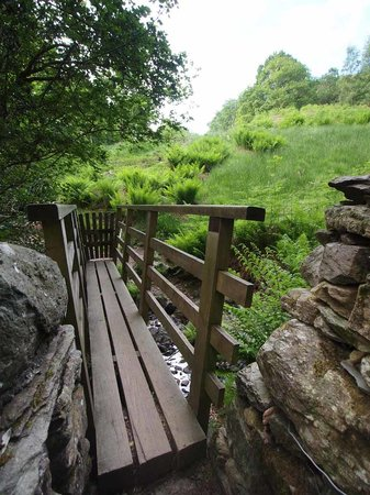 Riverside B&B: Gated bridge onto Loughrigg