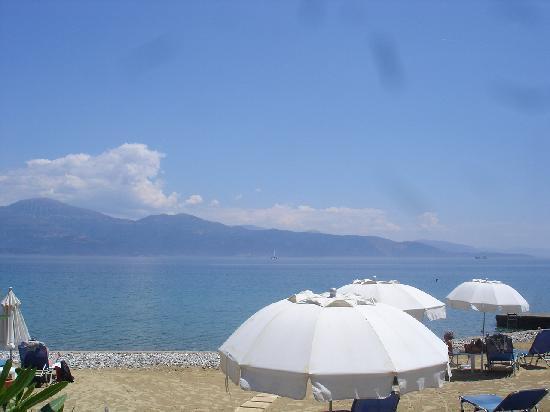 Aigio, Greece: vu de la plage