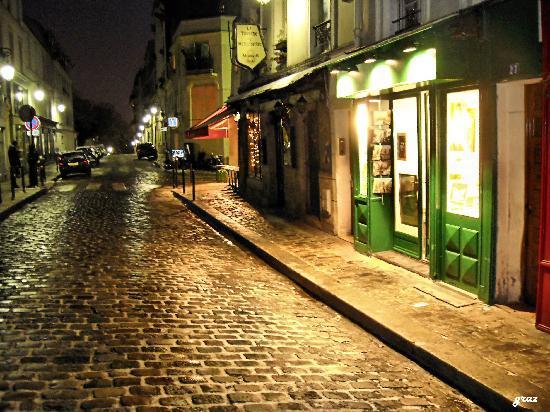 Paris, Frankrike: montmartre rue gabrielle