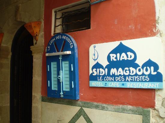 Riad Sidi Magdoul - Le coin des Artistes : entrance