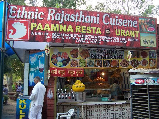 Dilli Haat: traditional food from Rajasthan @ rajasthan food stall
