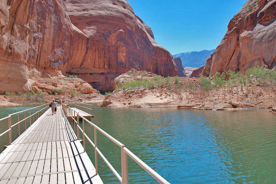 Lake Powell, UT: Dock at Rainbow Bridge