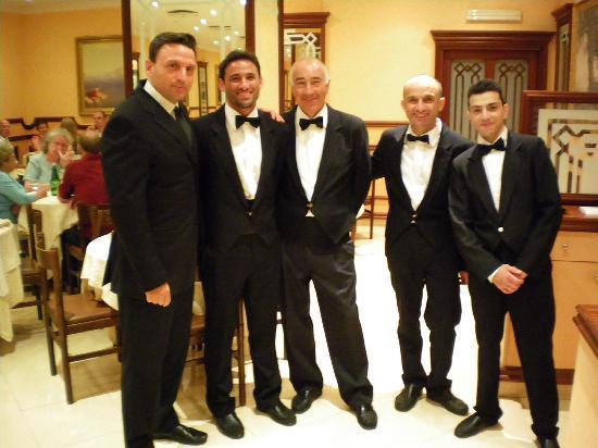 Kellner im Hotel Ascot, alle sehr nett