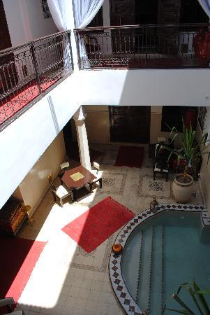 ‪‪Riad Argan‬: Communal area view from 1st floor‬