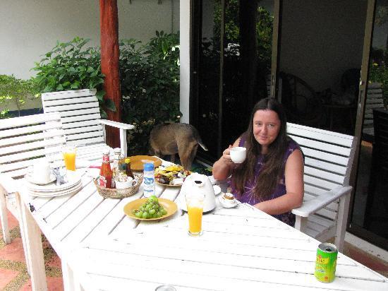 Aree Beach Resort : Frühstück auf der Terasse