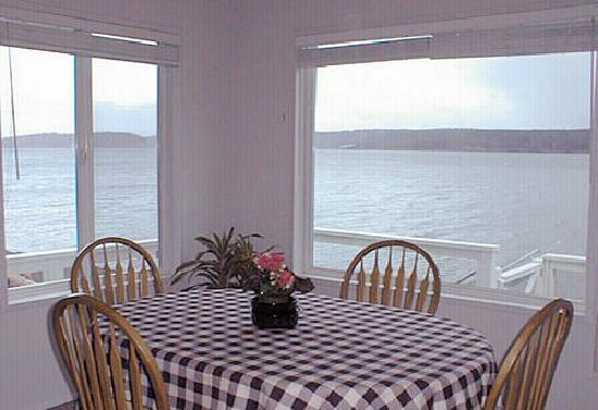 Anderson Island, WA: Water view from dining room
