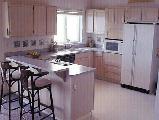 Anderson Island, Waszyngton: Beachfront unit kitchen