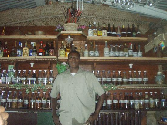 Pagua Bay House Oceanfront Cabanas : they really like their rum punch there.  Look at all that rum