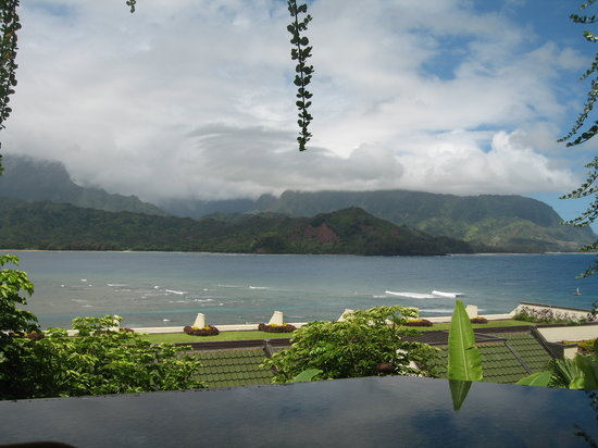 St. Regis Princeville Resort : view from Makana Terrace Restaurant