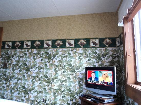 Big Moose Inn: Flat screen tv in room