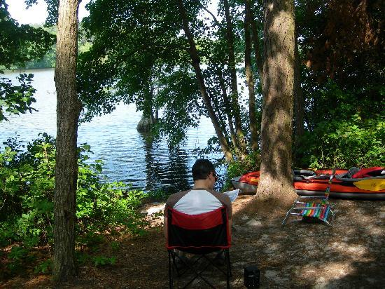 Trap Pond State Park : Yurt#1 - view from yurt