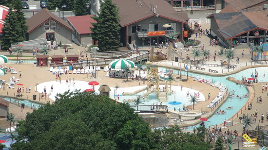 Camelbeach Mountain Waterpark: View from the Ski Lift