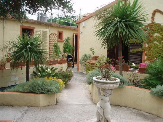 Maloni Hotel : Jardin et terrasses privatives devant les chambres