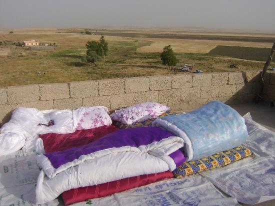 Nomad Village Home Stays: Our bed-room on top of the roof