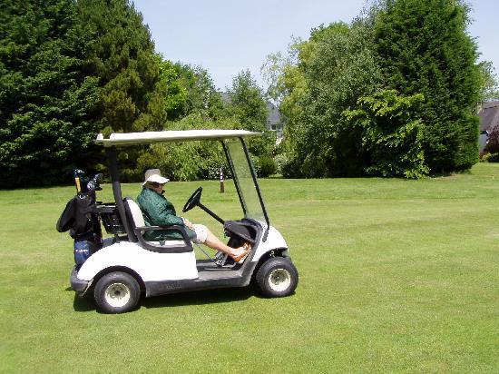 La Villa Florida : vue du golf vers terrasse