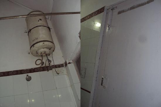 Panchvati: geyser & bathroom door