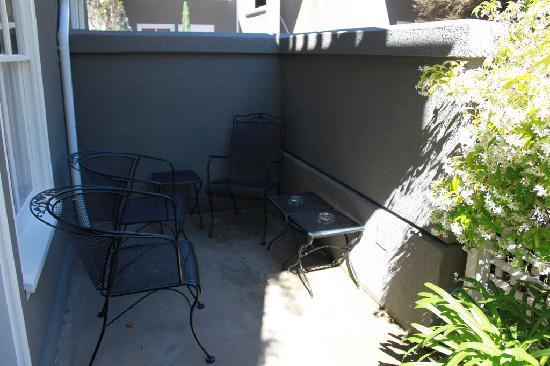 Hotel La Rose: our private patio