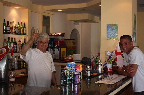 Canal D' Amour Village: In the Bar with Christos
