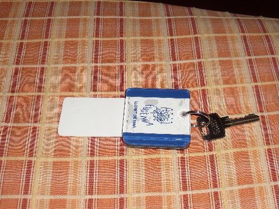 Santa Cristina Hotel: Der Zimmerschlüssel mit der Stromversorgung