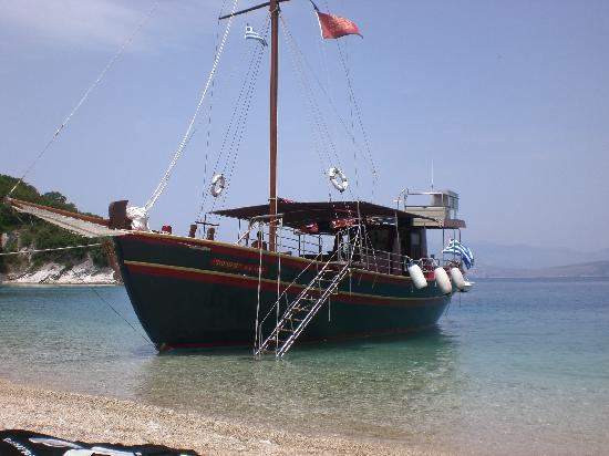 Dassia, Greece: Homers boat trip from the jetty just up from the hotel.  Well worth €25 for a day out