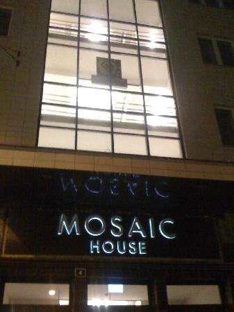 Mosaic House: The building at night