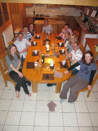 Chalet Clair Matin: Evening meal in the chalet