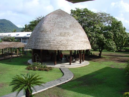 Tanoa Tusitala Hotel: Temporary reception area