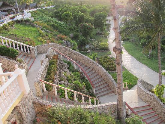 descente d 39 escalier depuis le mares picture of sol rio de luna y mares guardalavaca tripadvisor. Black Bedroom Furniture Sets. Home Design Ideas