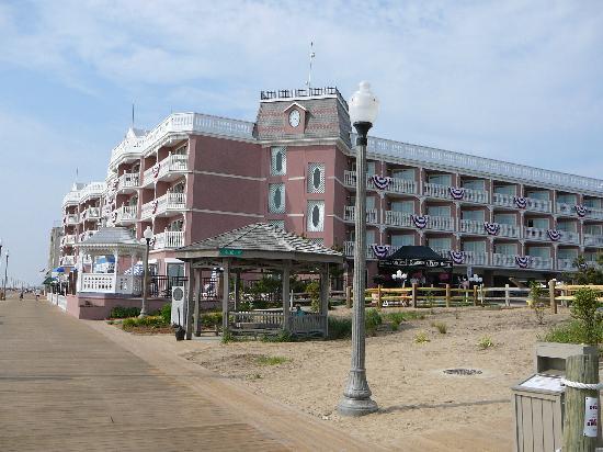 Boardwalk Plaza Hotel Seen From Rehoboth Beach