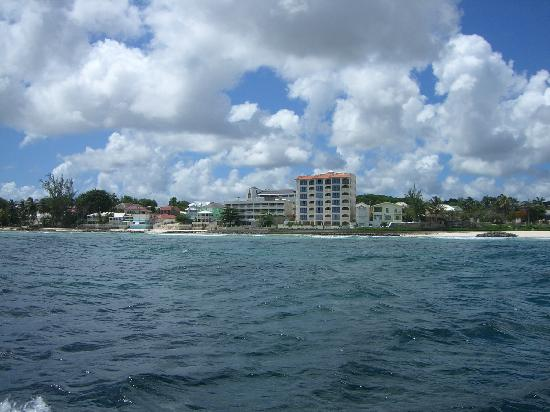 Barbados Blue: View of Hotel from Boat