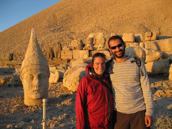 Go Western Turkey Tours: Gurcan and me on Mt. Nemrut