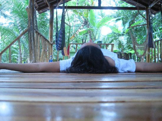 The Jungle House : Me relaxing after yoga