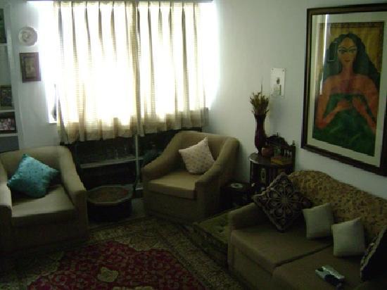 Maya's Nest: the living room