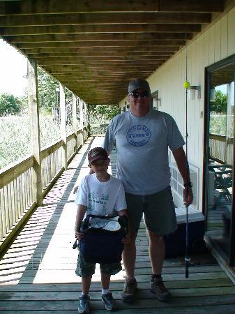 Assateague Inn: Today's the Day Dad and I Catch the Big One!
