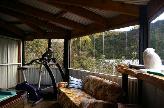 Tombstone Backpackers: the hostel's veranda