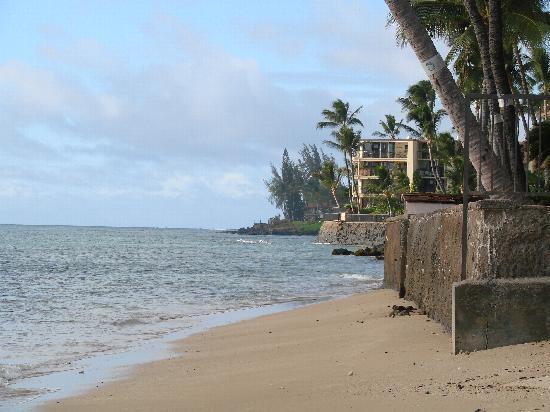 Nohonani Condos: View from beach at Nohonani