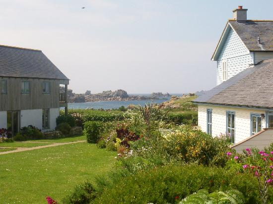 "Bryher, UK: view from ""The Wasp"" patio"