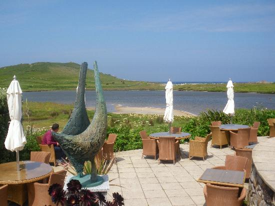 Bryher, UK: Restaurant patio