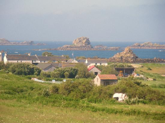 Bryher, UK: looking down to the hotel